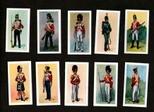 Trade cards set British Uniforms of 19 th Century 1957 set of 25